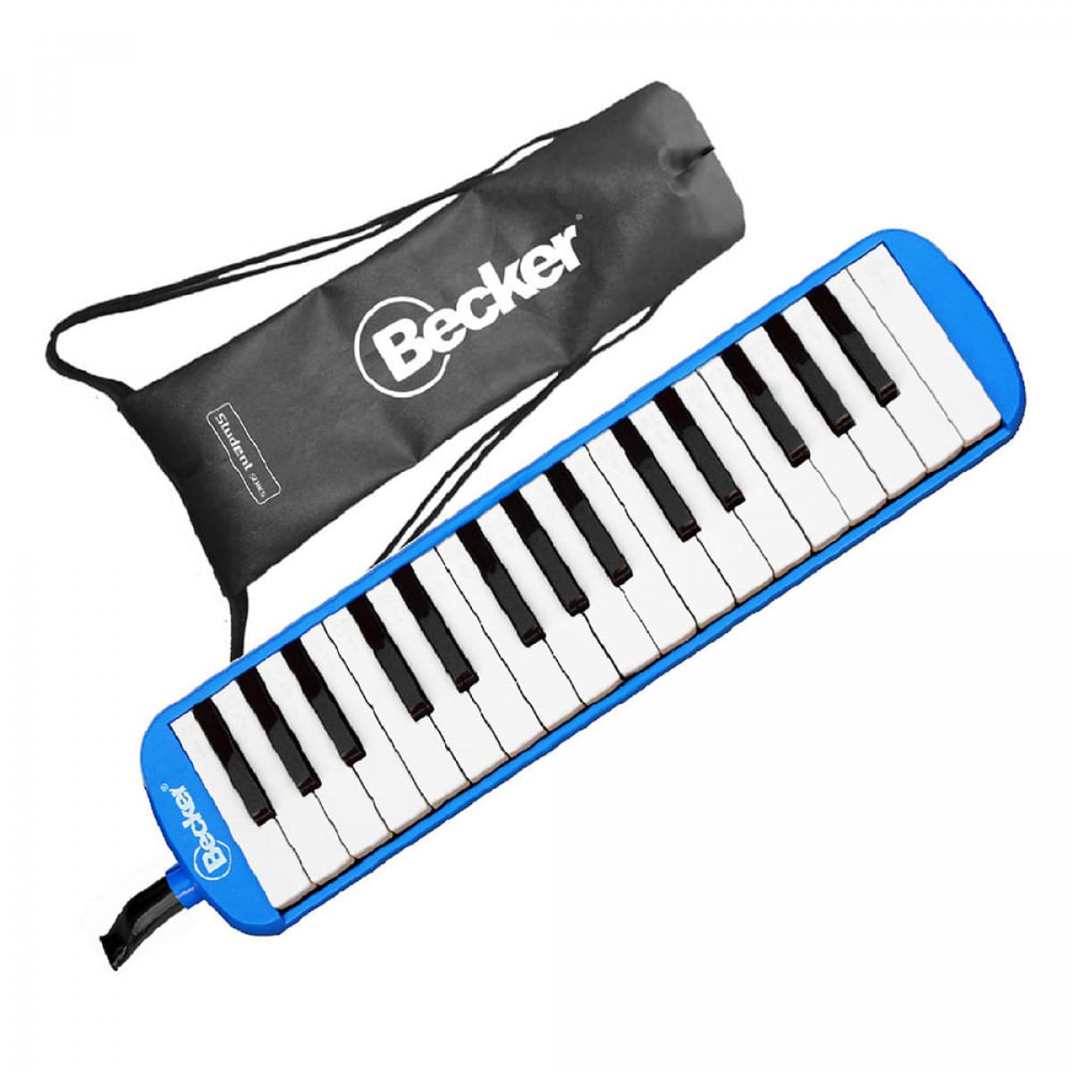 Escaleta Melódica Becker 32 teclas Azul Com Bag