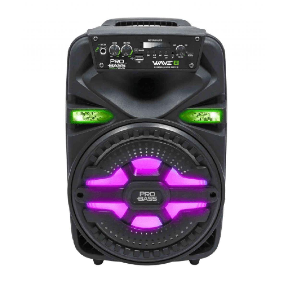 Caixa de Som Ativa Pro Bass Wave 8