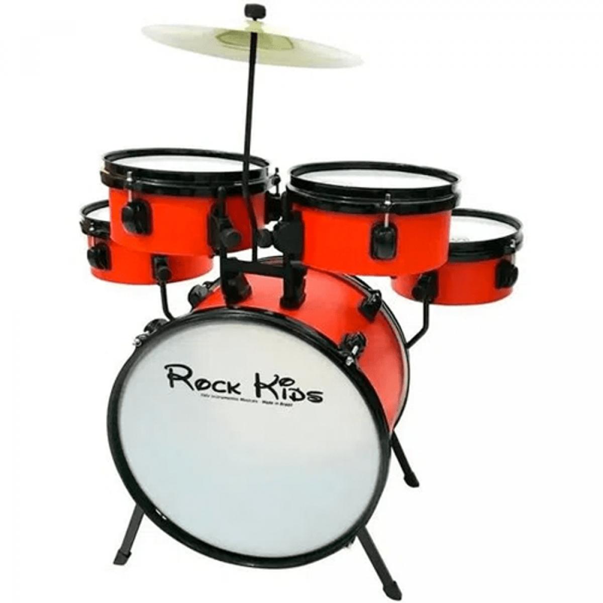 Bateria Infantil RMV Rock Kids PBKD14020 Vermelha