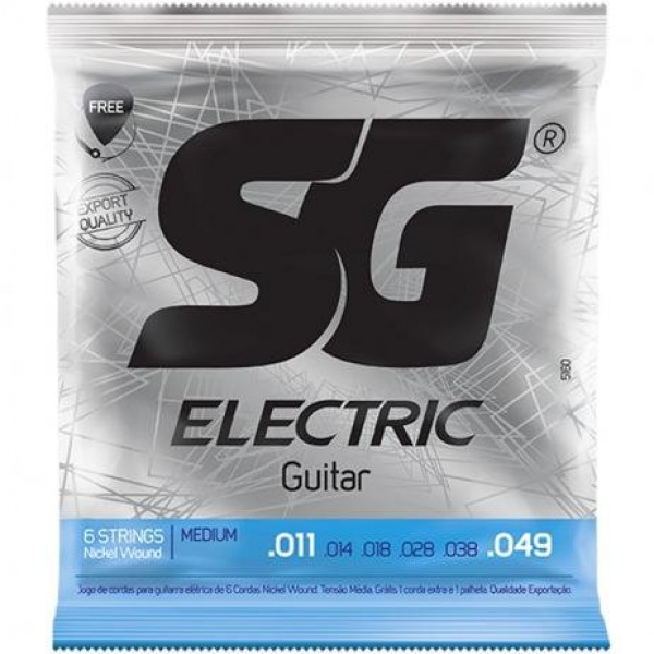 Encordoamento SG Guitarra 0.11 Níquelada