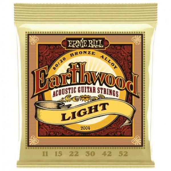 Encordoamento Ernie Ball Violão Aço 011 EarthWood Bronze 80/20