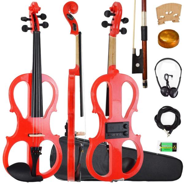 Violino Ronsani Sverve Elétrico 4/4 Vermelho