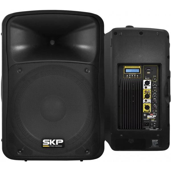Caixa Acústica Amplificada Sk-5px 250w Usb/sd/bt