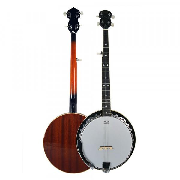 Banjo Strinberg Wb50 5 Cordas Mogno Pele Remo Weatherking