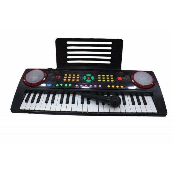 Teclado Infantil Custom Kids Ckkb 44 Preto Microfone Com Fio - Custom Sound