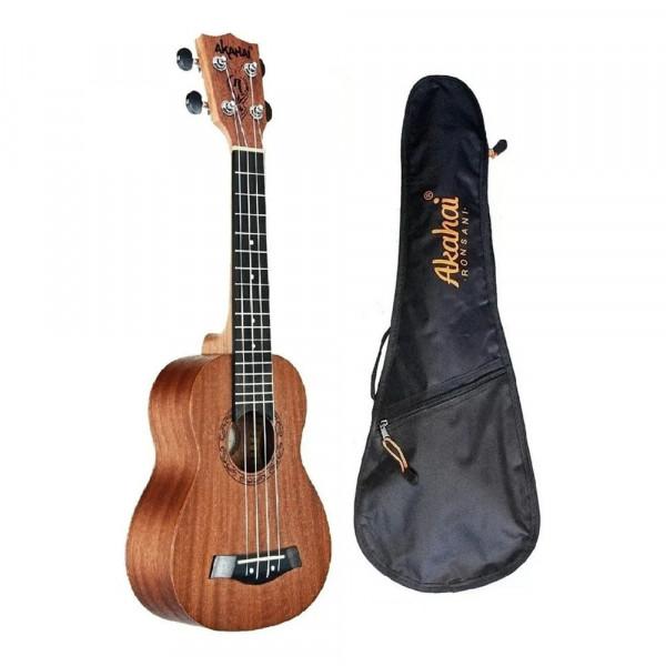 Ukulele Akahai K 21 Soprano Natural Com Bag