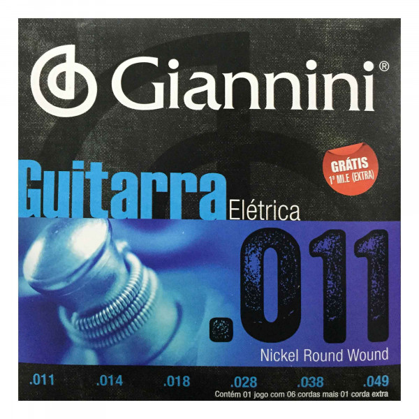 Encordoamento Giannini Guitarra 0.11 GEEGST11