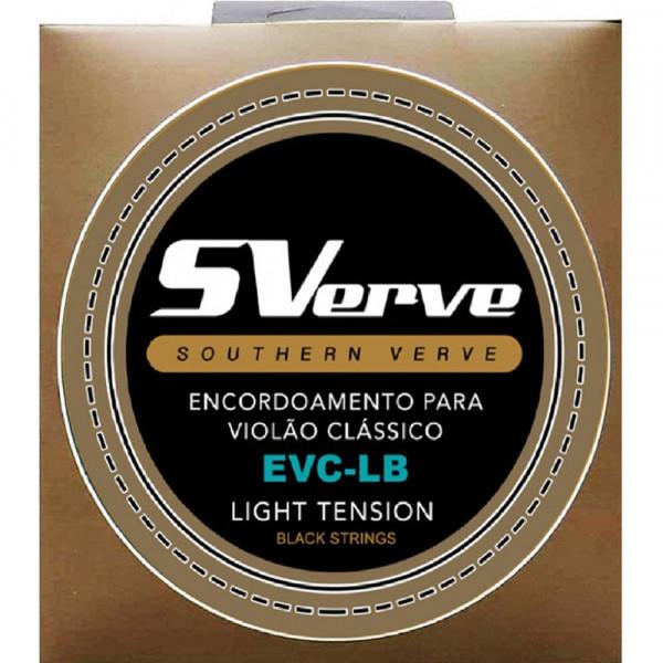 Encordoamento SVerve Violão Nylon Preto Tensão Leve EVC-LB
