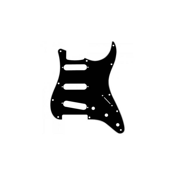 Escudo Guitarra Strato SSS (3S) Preto Wave NST02-111/BK