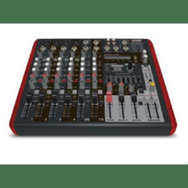 Mesa De Som Amplificada Novik 8 Canais Usb Nvk 800p