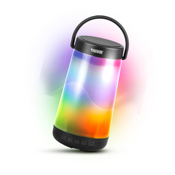 Caixa de Som Bluetooth com Bateria e Iluminação 360 Novik Neo Glow