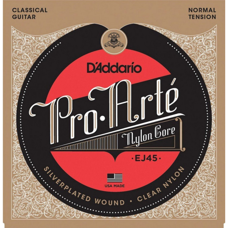 Encordoamento D'addario Violão Nylon Tensão Normal EJ45